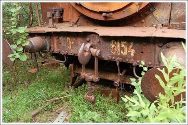 Abandoned Track and Train (45 pics)