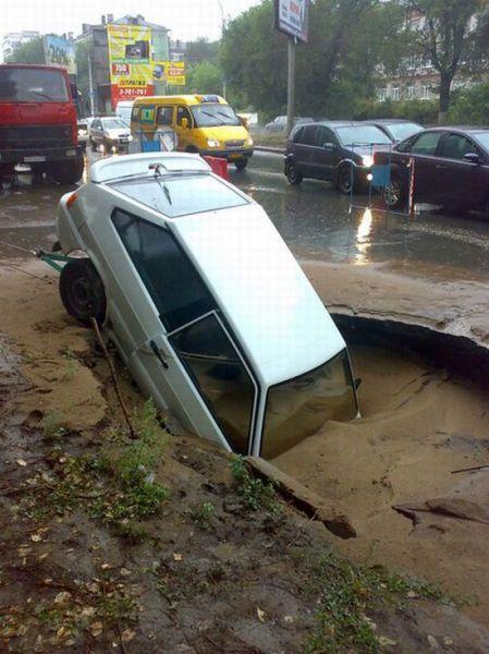 Roads in Russia (5 pics)