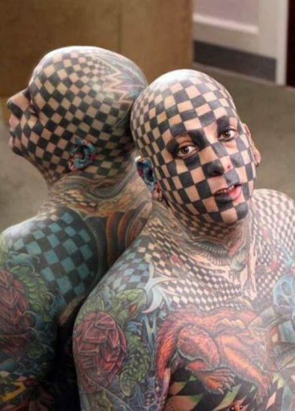 Horrible Face Tattoos (30 pics)