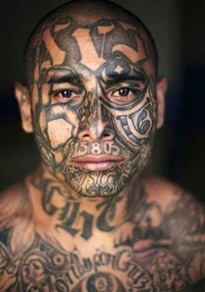 horrible face tattoos 30 pics. Black Bedroom Furniture Sets. Home Design Ideas