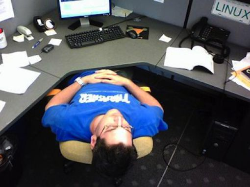 People Snoozing at Work (22 pics)