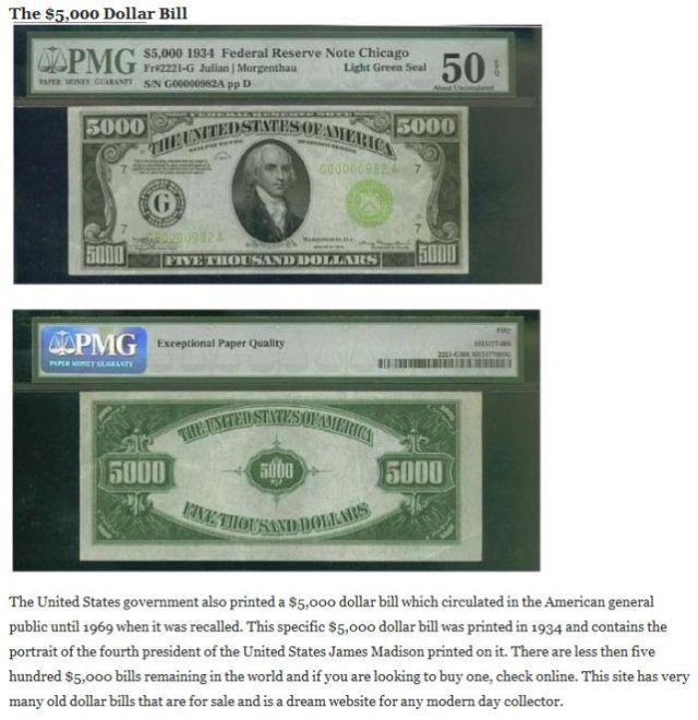 Some Very Large Bills (5 pics)
