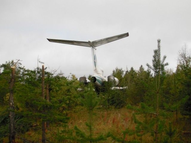 Emergency Landing of Tu-154M (14 pics)