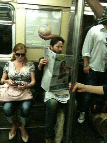 Meet Famous People in the Subway (14 pics)