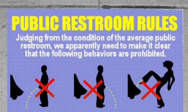 Restroom Rules That Are Hilarious 1 Pic