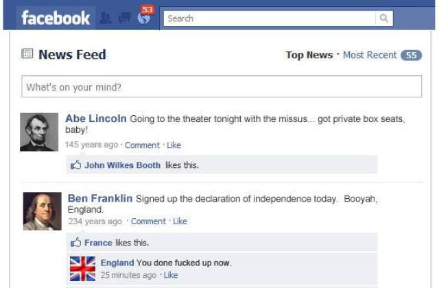 Historical Events On Facebook  Pic
