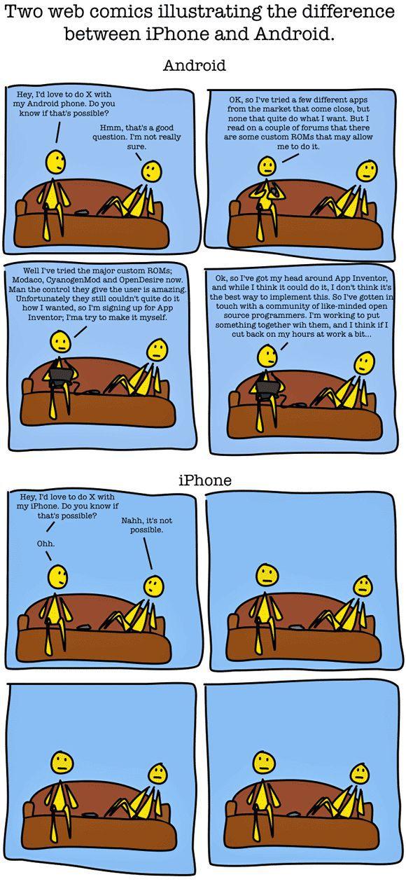 Andoid vs. iPhone (1 pic)