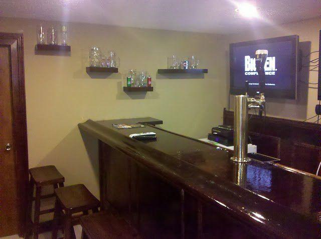Handmade Bar in the Basement (35 pics)