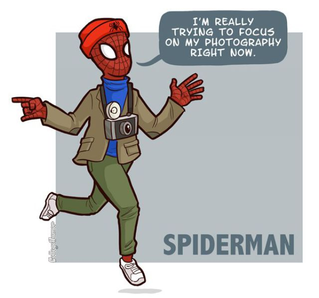 Superheroes as Hipsters (7 pics)