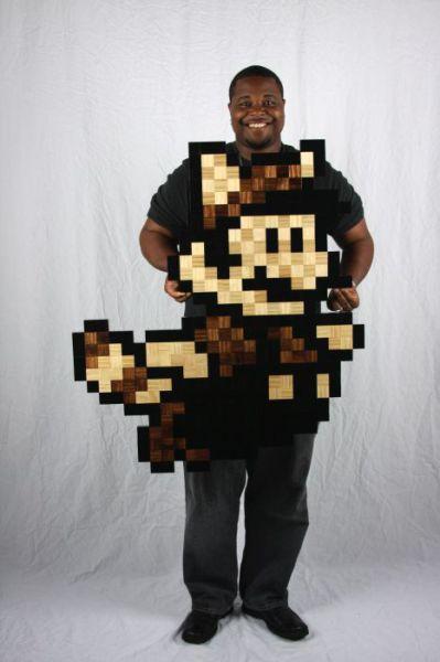 8-Bit Wood Art (46 pics)