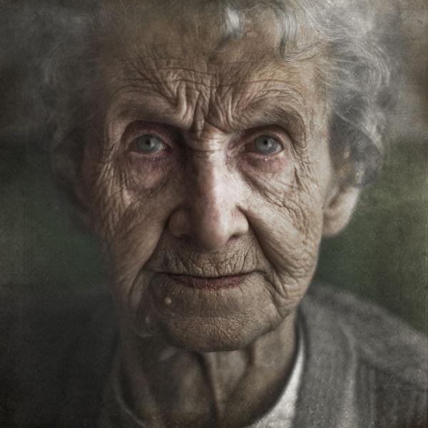 Sad elderly people