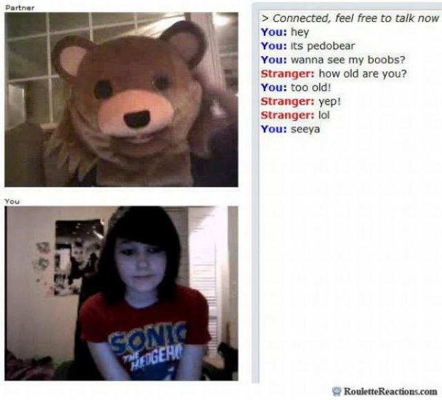 Funny Reactions on Chatroulette (40 pics)