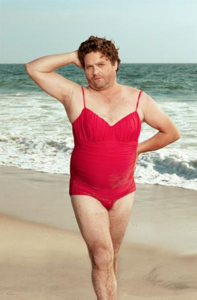 Comedian Swimsuit Calendar with Zach Galifianakis (6 pics)