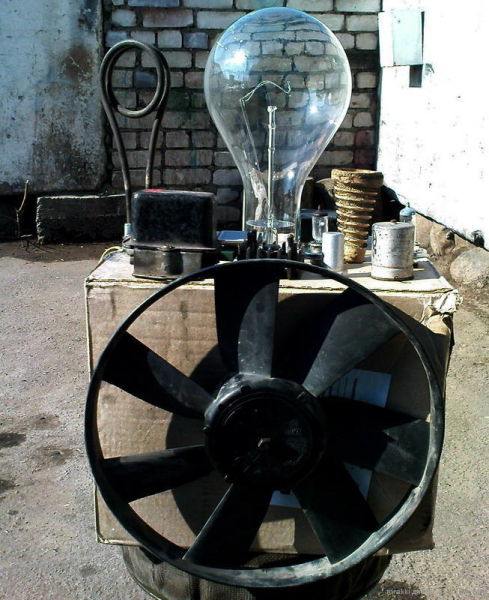 1 kW h Lamp Stereo Amplifier (8 pics)