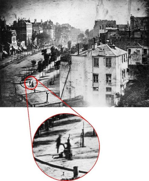 The Very First Photo of a Human Being (2 pics)