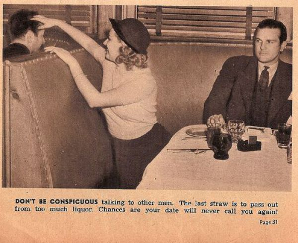 How a Woman Should Behave on a Date (13 pics)