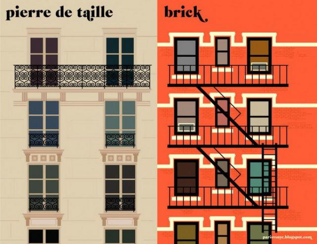 Paris vs New York (16 pics)