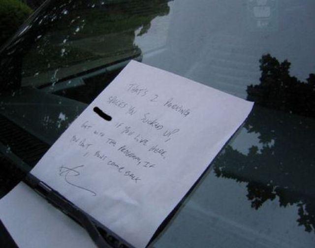 Funny Parking Notes