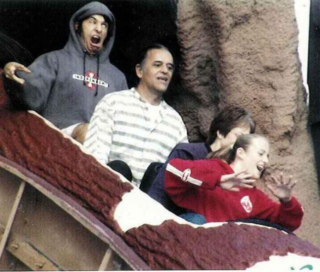 Funny Facial Expressions of Amusement Park Riders