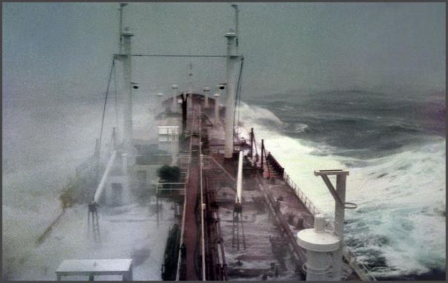 Ship in a Horrible Storm