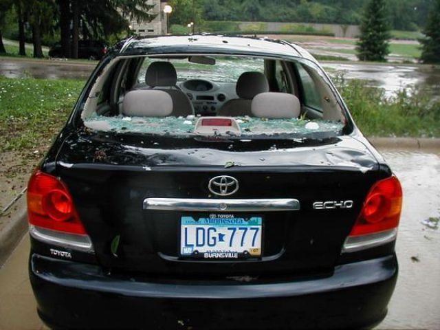 Cars after a Hailstorm