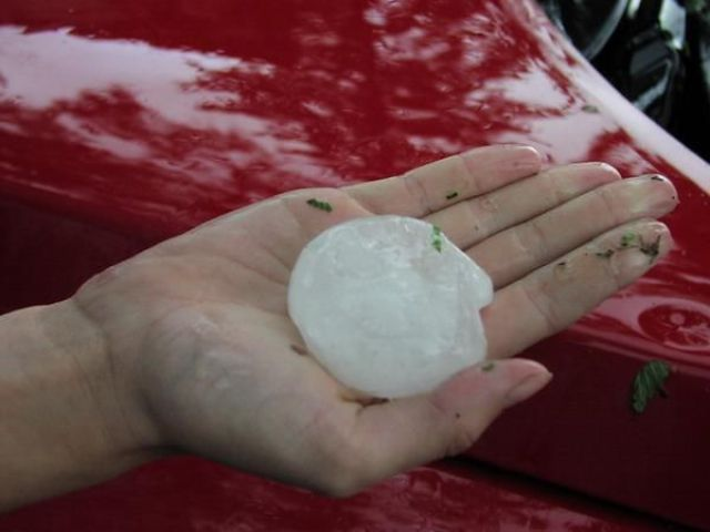Cars after a Hailstorm