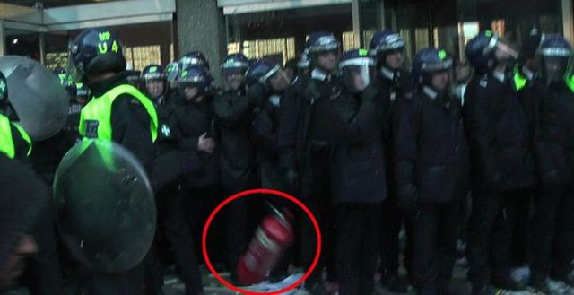Protest by Fire Extinguisher