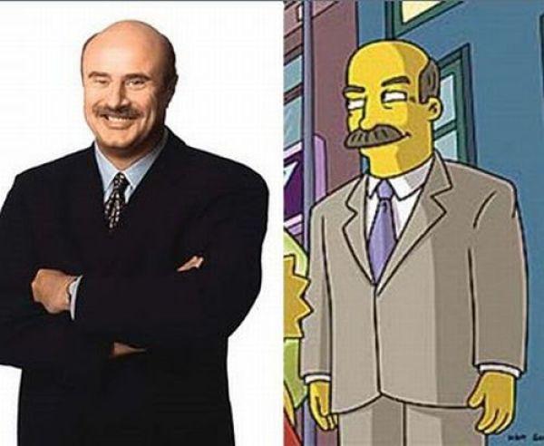 Simpsons Celebrity Lookalikes
