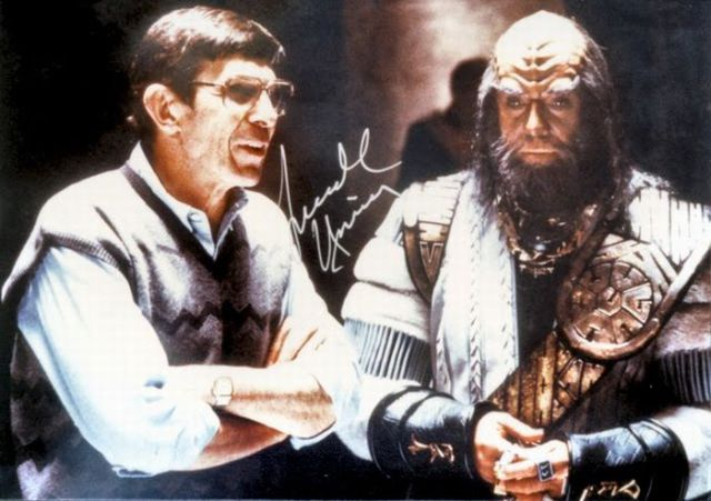 Between Takes on the Set of Star Trek