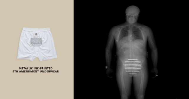 Underclothes to Protest TSA X-Ray Scanners