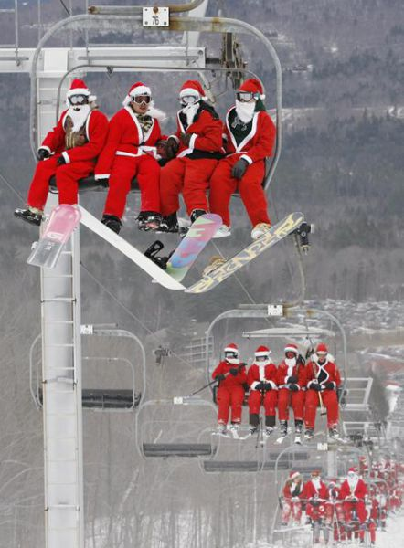 Uncanny Factoid: Santa Ski Fever