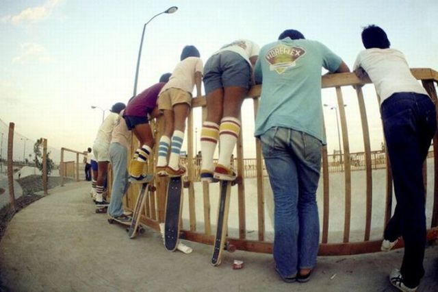 Skateboarders from the Past