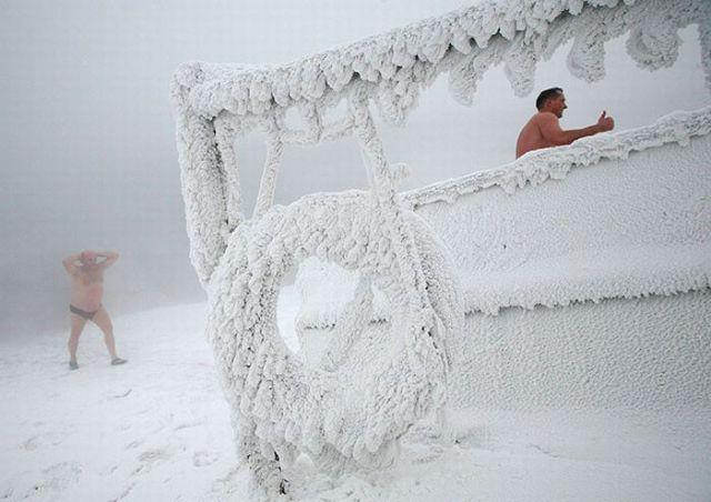 Siberian Winter Swimming