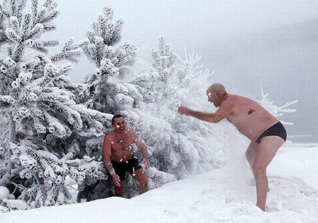 Siberian Winter Swimming