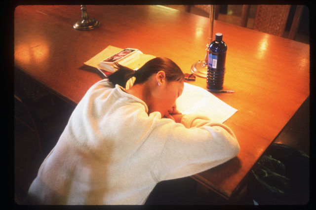 Sleeping in the Library