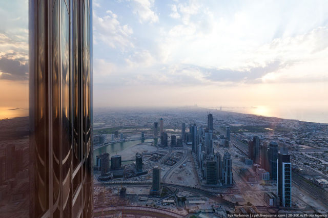 The View From Burj Khalifa The Tallest Building In The