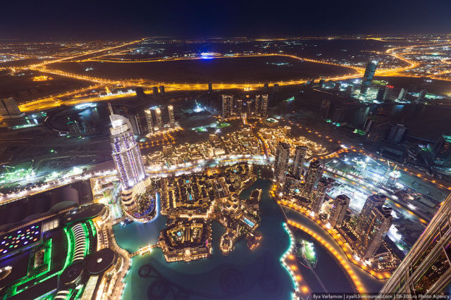 The View from Burj Khalifa, the Tallest Building in the World
