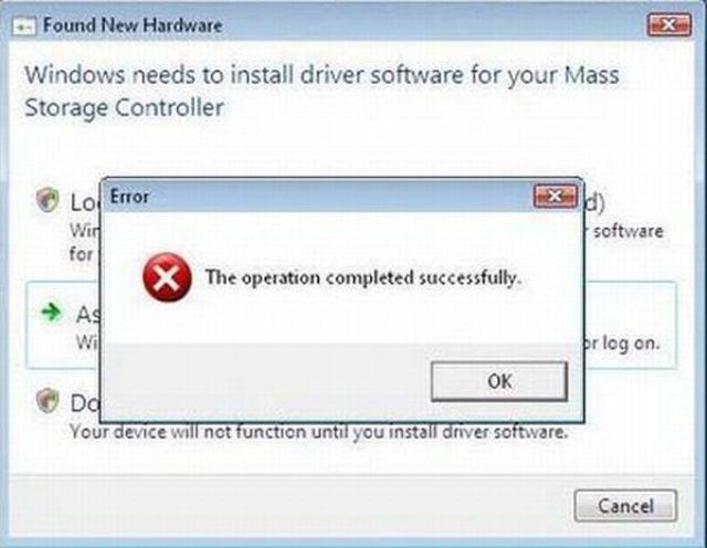 Hilarious Error Messages
