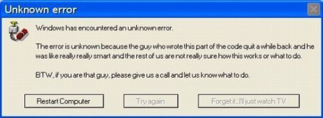 Hilarious Error Messages