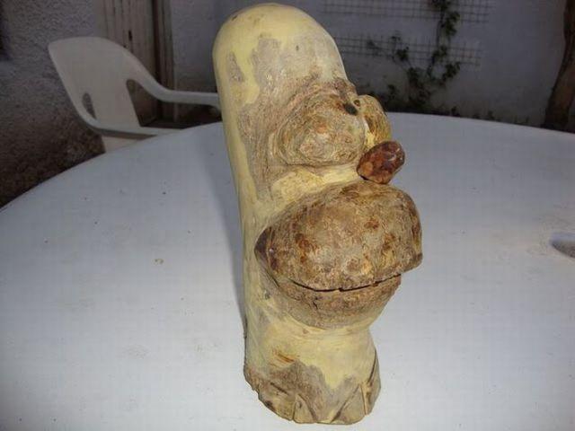 Creative Wooden Simpson