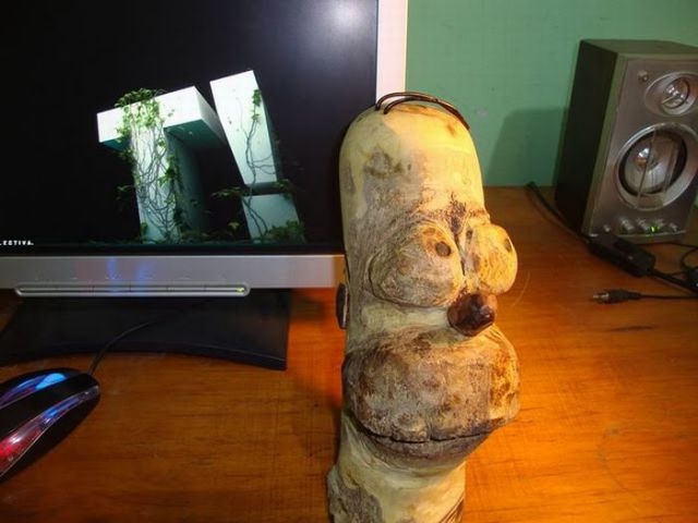 Creative Wooden Simpson
