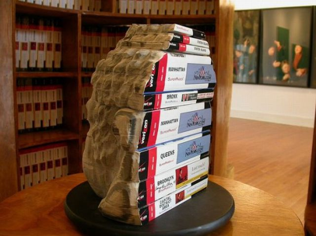 Amazing Carvings Made from Books