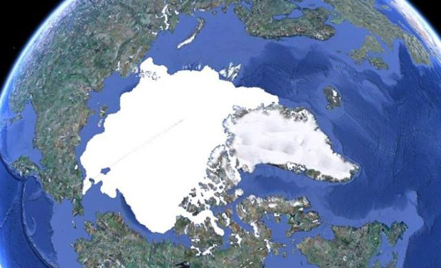 North Pole Then and Now
