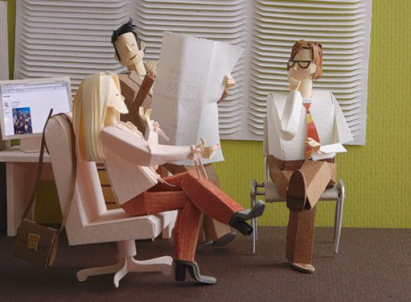 An Office Made of Paper