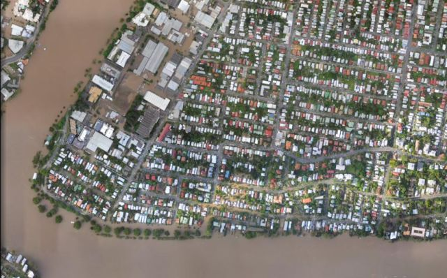 The Devastation Caused by the Brisbane Floods: Before and After