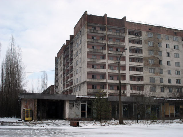 Wintertime at a Nuclear Disaster Site
