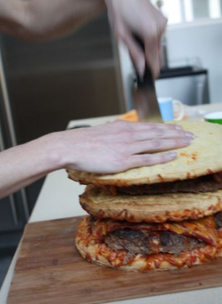 A Super Duper Pizza Burger