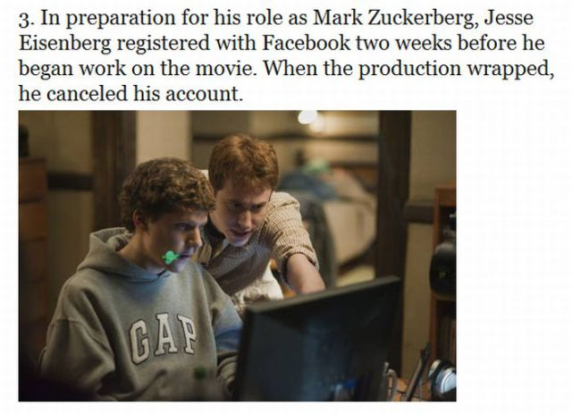 Things You Dont Know About Movie The Social Network