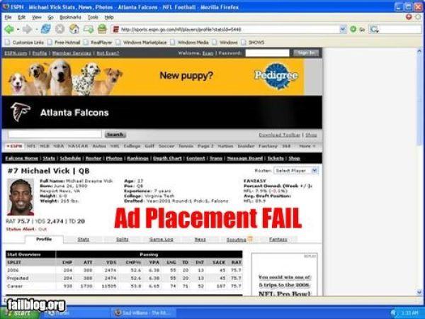 Advertisement Placement Fails