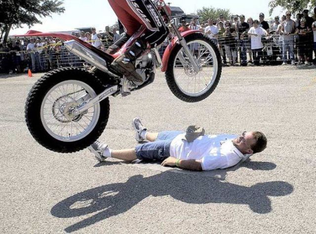 Dangerous Tricks on Motorcycles
